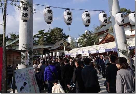 広島護国神社の初詣の混雑状況