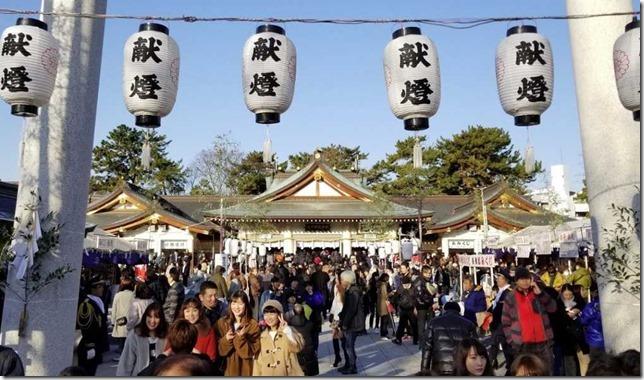 広島護国神社の初詣での混雑時間をまとめると