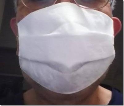 冷感 日本製 涼しい 洗えるマスク 絹 プリーツ 千鳥格子地紋2